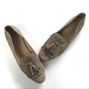 J. CREW 100% Leather Tassels Suede Loafers 8.5